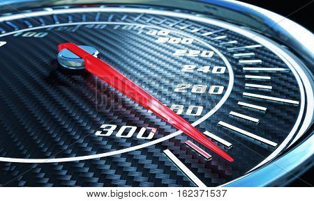 carbon speedometer 3d rendering image
