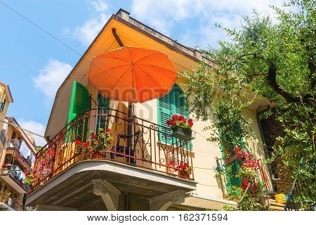 Mediterranean Style Building With Balcony