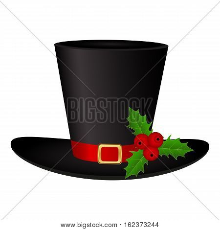 Snowman Hat on a white background isolated vector
