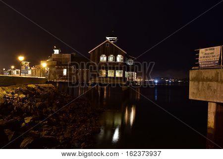 Seaport Village At Night