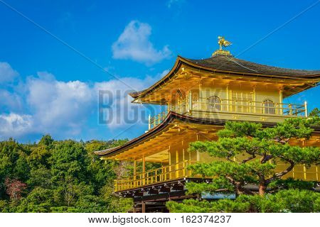 "Kinkakuji Temple "" The Golden Pavilion"" in Kyoto, Japan"