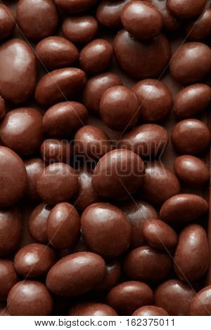 background of chocolate sweets.