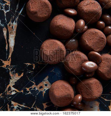 delicious chocolate truffles