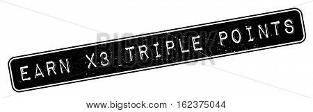 Earn X3 Triple Points rubber stamp. Grunge design with dust scratches. Effects can be easily removed for a clean, crisp look. Color is easily changed.