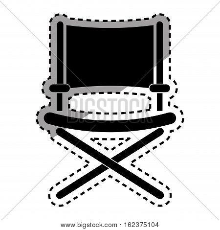 Director chair symbol icon vector illustration graphic design