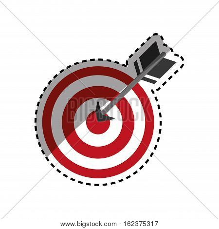 Isolated dartboard target icon vector illustration graphic design