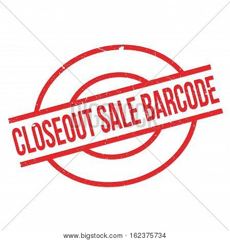 Closeout Sale Barcode rubber stamp. Grunge design with dust scratches. Effects can be easily removed for a clean, crisp look. Color is easily changed.