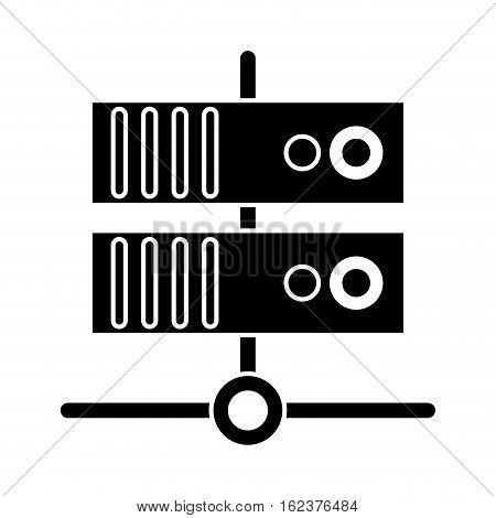 silhouette data base technology server system vector illustration eps 10