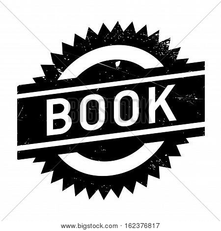 Book stamp. Grunge design with dust scratches. Effects can be easily removed for a clean, crisp look. Color is easily changed. rubber grunge
