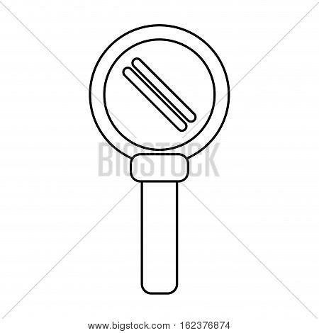 search loupe magnifier tehcnology outline vector illustration eps 10