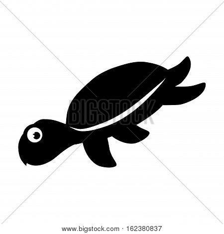 Marine turtle cartoon icon vector illustration graphic design
