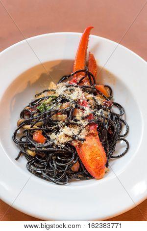Lobster Pasta aglio olio, Groumet french cuisine