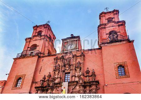 Pink Templo de San Francisco San Francisco Church Guanajuato Mexico Built in the 18th Century