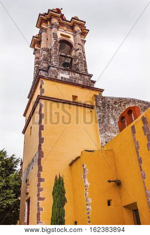 Steeple Convent Immaculate Conception The Nuns San Miguel de Allende Mexico. Convent of Immaculate Conception was created in 1754.
