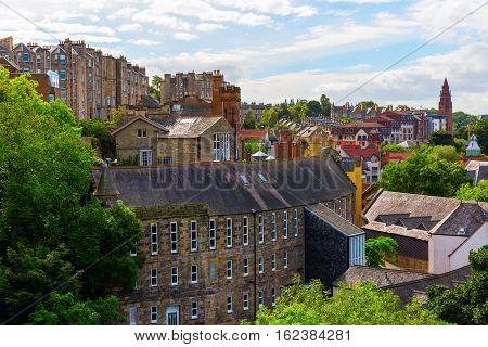 Aerial View Over Dean Village, Edinburgh