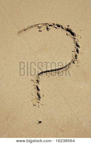 ? in the sand