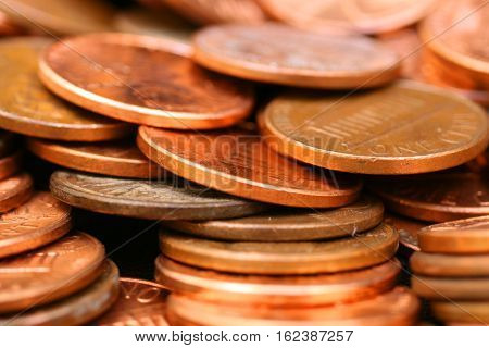 A close up image of American penny