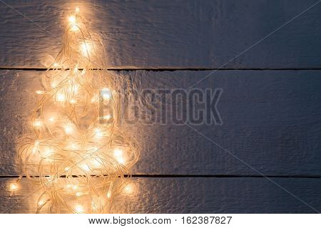 Festoon in form of pine