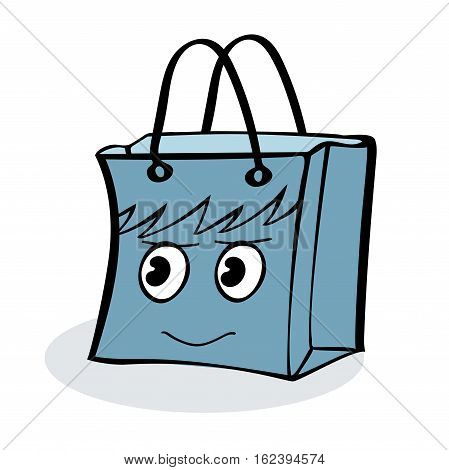 Boy gift wrap package sale. Illustrator vector