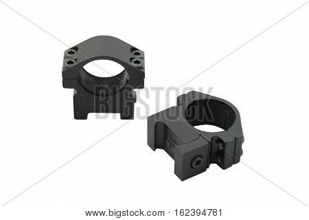 Weaver style scope rings isolated on a white background