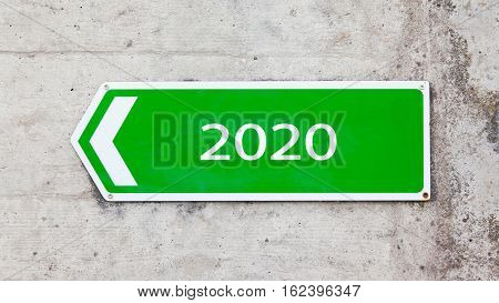 Green Sign - New Year - 2020