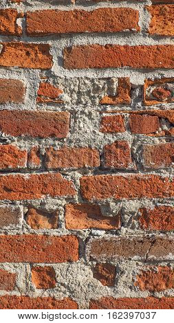 Red Brick Wall Background - Vertical
