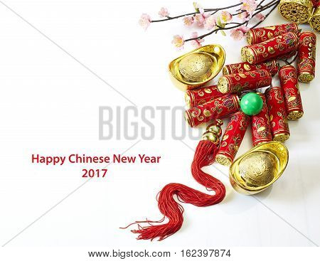 Chinese New Year OrnamentLucky Knot and Plum Blossom.
