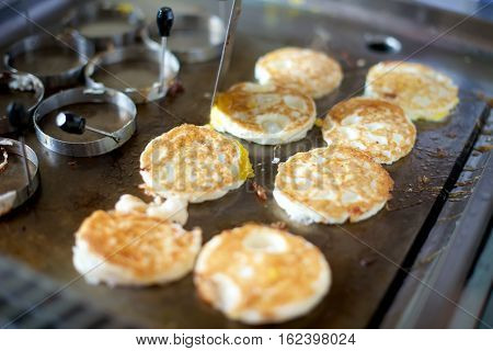 Fried Eggs On Grill