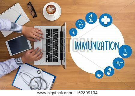 Immunization Immune System  As Medical Concept ,  Syringe. Immunization  , Immune Protection System