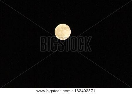 Full Moon On Sky In Space