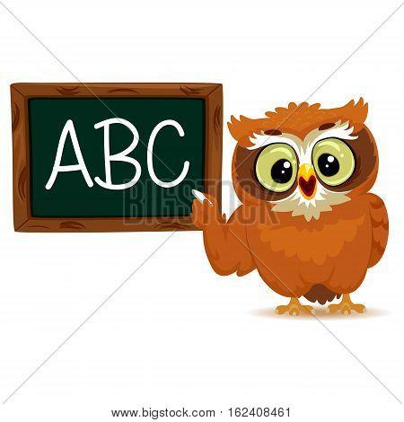 Vector Illustration of an Owl as a teacher