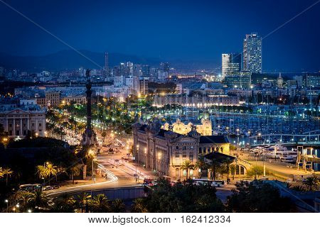 Barcelona Night View
