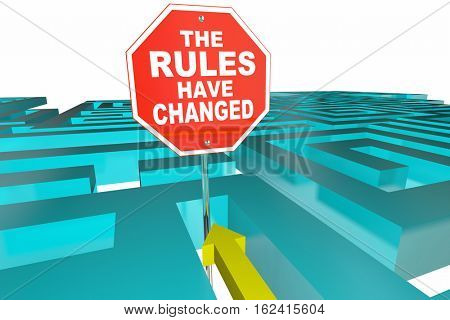 The Rules Have Changed Puzzle Game New Instructions 3d Illustration