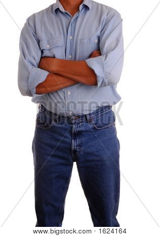 Man In Jeans & Workshirt