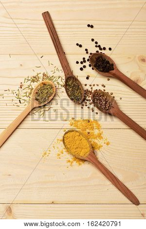 Set Of Various Aromatic Spices