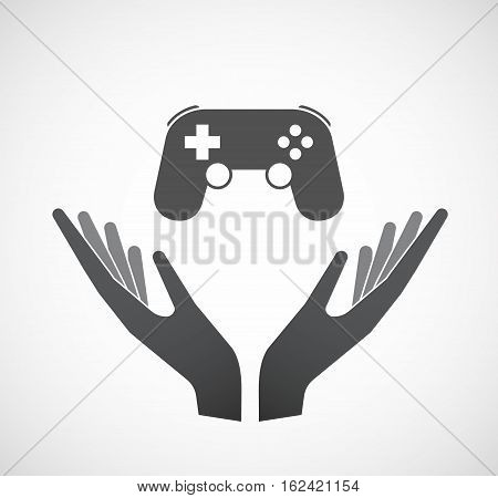 Isolated Hands Offering  A Game Pad