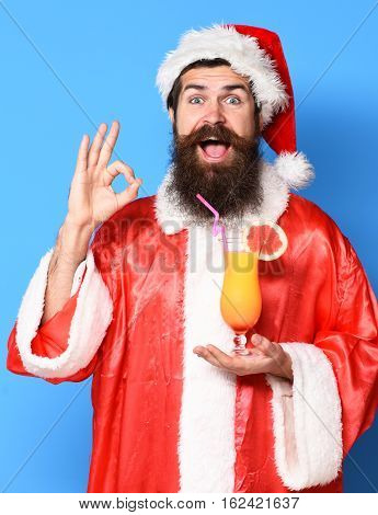 Handsome Bearded Santa Claus Man