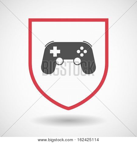 Isolated Shield With  A Game Pad