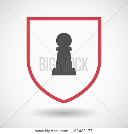 Isolated Shield With A  Pawn Chess Figure