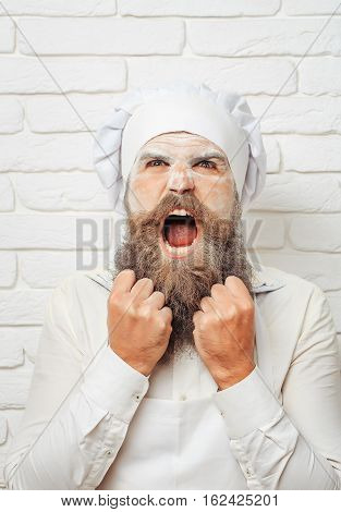 Wicked Cook Shouts With Anger
