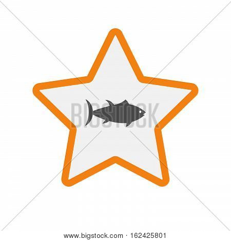 Isolated Star With  A Tuna Fish