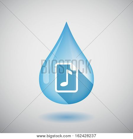 Isolated Water Drop With  A Music Score Icon