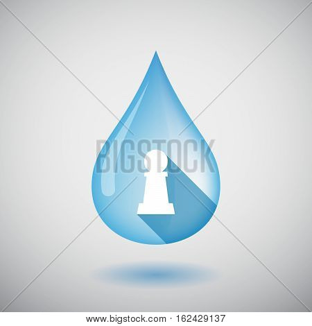 Isolated Water Drop With A  Pawn Chess Figure