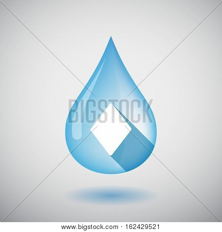 Isolated Water Drop With  The  Diamond  Poker Playing Card Sign