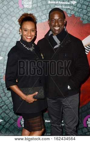 LOS ANGELES - DEC 16:  Ryan Michelle Bathe, Sterling K. Brown at the