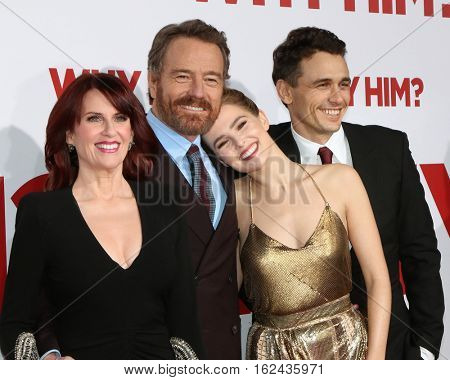 LOS ANGELES - DEC 17:  Megan Mullally, Bryan Cranston, Zoey Deutch, James Franco at the