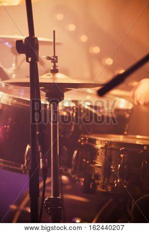 Live Rock Music Background, Drummer