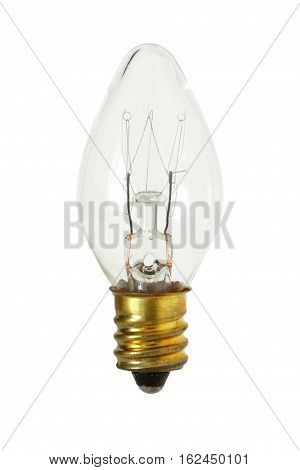 Cone Shape Incandescent Lamp isolated on white background clipping path