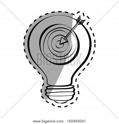 Target dartboard game icon vector illustration graphic design