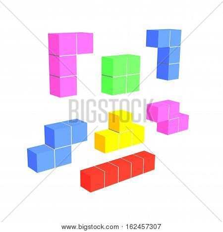 puzzle video game - geometric 3D shapes - think creative game